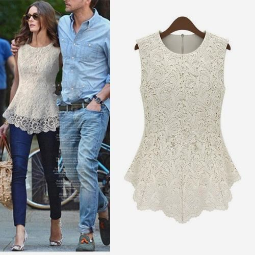COWGIRL GYPSY TOP Lace N Lined Sleeveless Zip Back Peplum Western Top Blouse Shirt