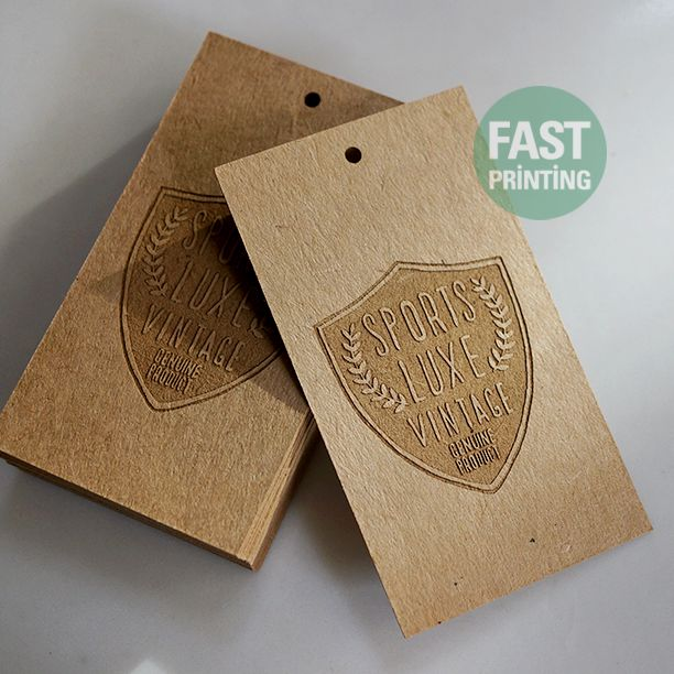 Swing Tag With Laser Marking Finish On 350gsm (16pt) Extra Craft #lasermarking #craft #fastprinting #FP