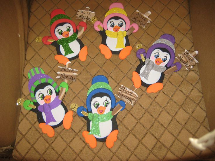 pinguinos navideños | Manualidades | Pinterest