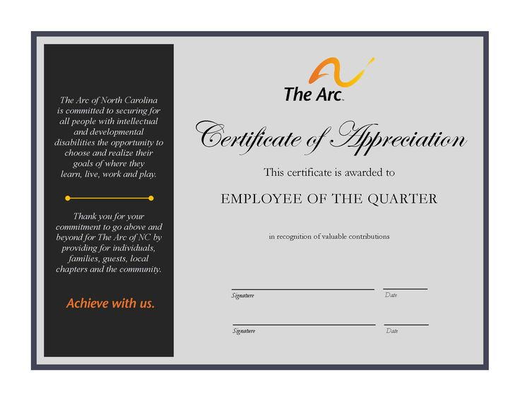 23 best images about The Arc of NC - EMPLOYEE OF THE QUARTER on ...