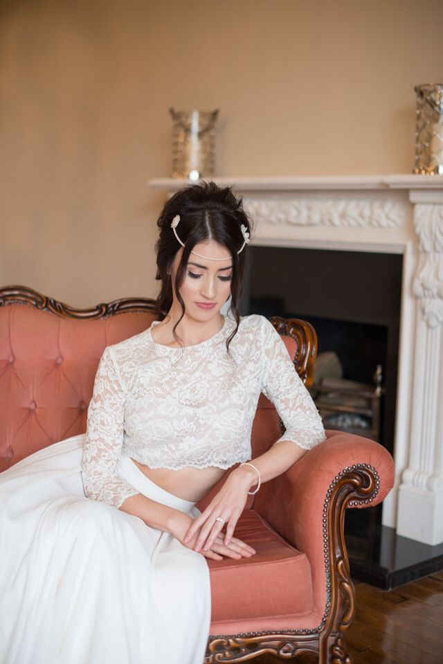 Handcrafted, bespoke bridal hair piece from Lilly Dilly's Photography by Kayleigh Pope Photography #wedding #hair #accessory #vintage #pearl #bride #bridal #bespoke #unique #Lilly Dilly's #boho #hair piece