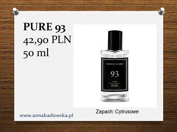 Perfumy PURE 93 męskie cytrusowe