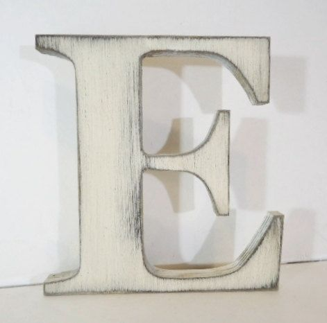 wooden letter e 18 inch distressed painted by vintagebluebysophia 4400 diy crafts pinterest letter e wooden letters and letters