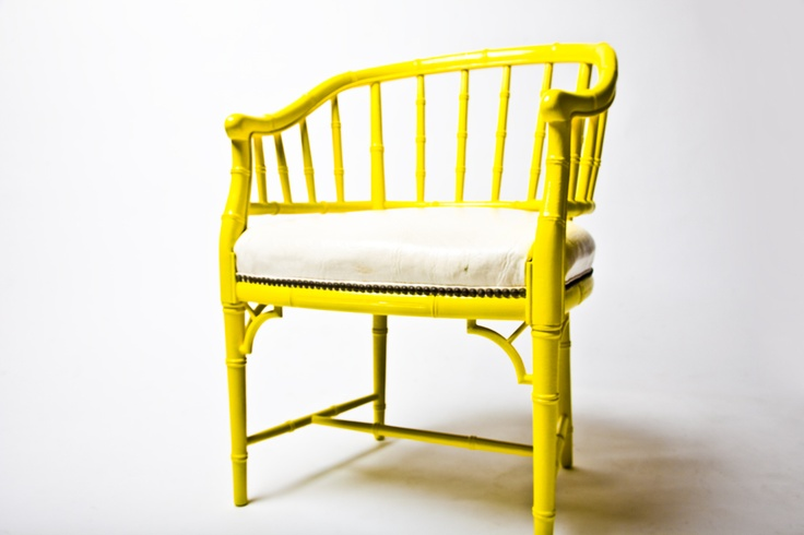 yellow bamboo chair by jennifer l. jeffcoat designs
