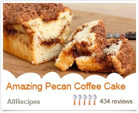 Coffee cake, Pecans and Messages on Pinterest
