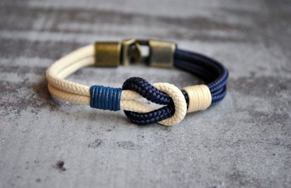 Bracelet nautique de noeud marin  bracelet par CristinaHandmade