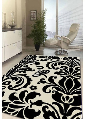 This Is Just A Picture Of A Rug; I Am Thinking Of Making This Pattern. Black  White RugPlayroom RugDamask ...