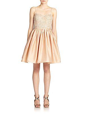 Aidan Mattox Bead-Top Party Dress