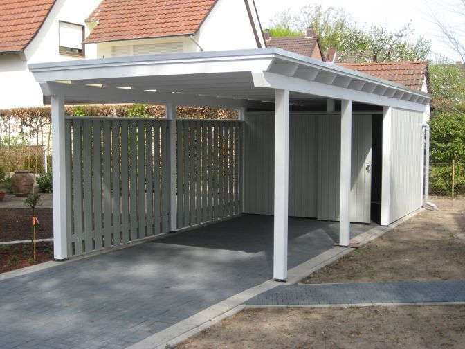 101 best auffahrt und carport driveway oprit images on for Carport landscaping ideas