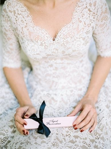 Wedding Details for Getting Ready by Agent Provocateur
