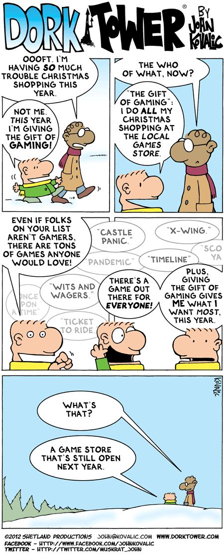 The Gift of Gaming – Dork Tower 18.12.12