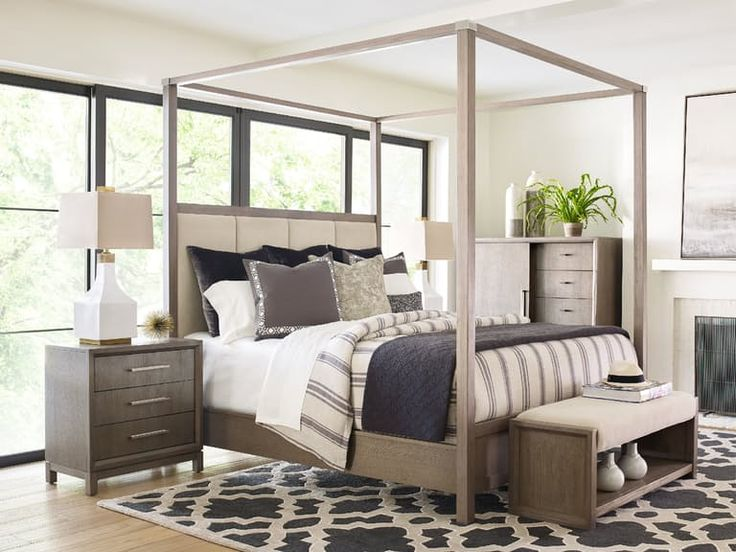 Shop For Rachael Ray Home   Highline Upholstered Poster Bed   KING, And  Other Bedroom Poster Beds At Star Furniture TX. The Highline Upholstered  Canopy Bed ...
