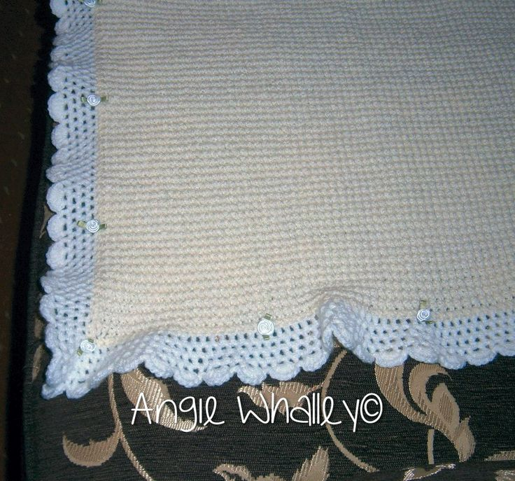 one of my cousin's is gonna be a Nanna soon so she asked me to do a pram blanket... this is the first one I've ever done & I did it without a pattern (just used  what I already know lol) it is actually cream & white lol :)
