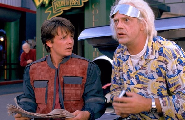 As a refresher this is the day that marty michael j fox and doc christopher lloyd time traveled to in