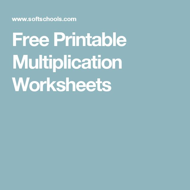 The 25 best ideas about Free Printable Multiplication Worksheets – Softschools Multiplication Worksheets