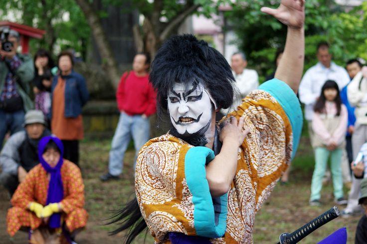 11 Akita Hachirogata town Gannin Dance Japan 2015 2015年5月5日 八郎潟町 一日市神社 大人願人踊り