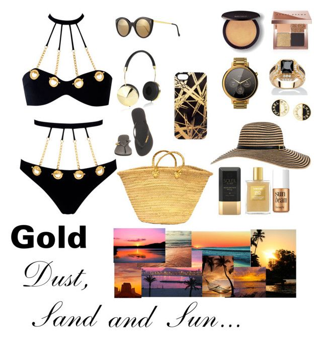 """""""Beach_Bum """" by aliciak60 on Polyvore featuring Agent Provocateur, Palm Beach Jewelry, Illesteva, Havaianas, Bobbi Brown Cosmetics, Motorola, Laura Mercier, Frends, Khristian Howell and Chanel"""