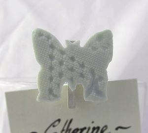 Porcelain Name Holder With Lace Imprint - wedding favours