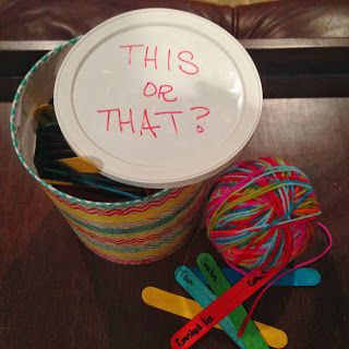 This Or That? Great get to know you game for Activity Days