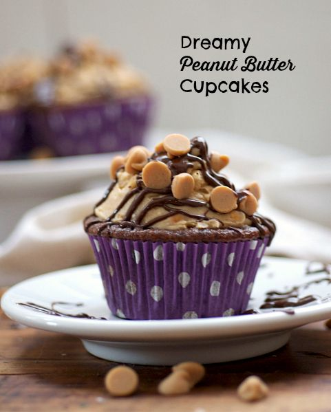 Super dreamy peanut butter cupcakes | The Realistic Nutritionist