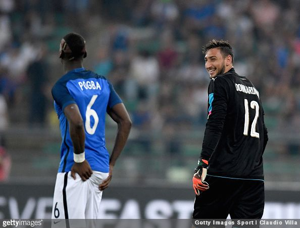 Paul Pogba, who has the same agent as Gianluigi Donnarumma, has backed the teenage goalkeeper despite his recent decision to leave AC Milan