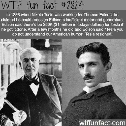 Nikola Tesla and Thomas Edison - WTF fun facts