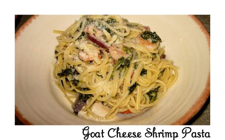 The Cottage Home: Goat cheese Shrimp Pasta