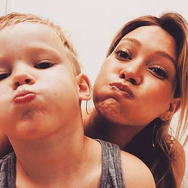 Hilary Duff and son Luca make faces at the camera while waiting for the doctor. So cute! ♥ Check out my celebrity website for more #Hilary #Duff news! ♥