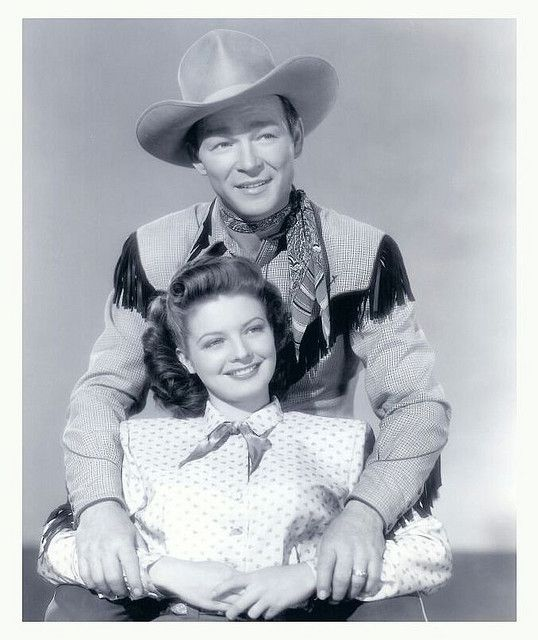 gail davis   Roy Rogers & Gail Davis promotion photo for the movie,'The Far Frontier'.