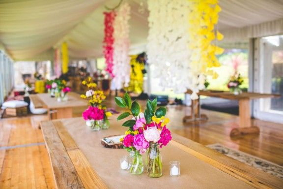 Jess & Nick's Colourful Bush Bank Wedding | Photography by The Evoke Company #weddings #YESevents #YourEventSoluton