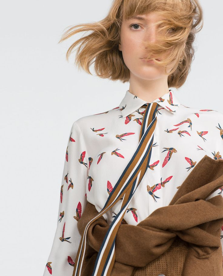 Image 4 of BIRD PRINT SHIRT from Zara