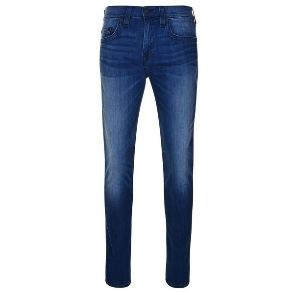 True Religion Rocco Super Stretch Skinny Jeans ($285) ❤ liked on Polyvore featuring men's fashion, men's clothing and men's jeans