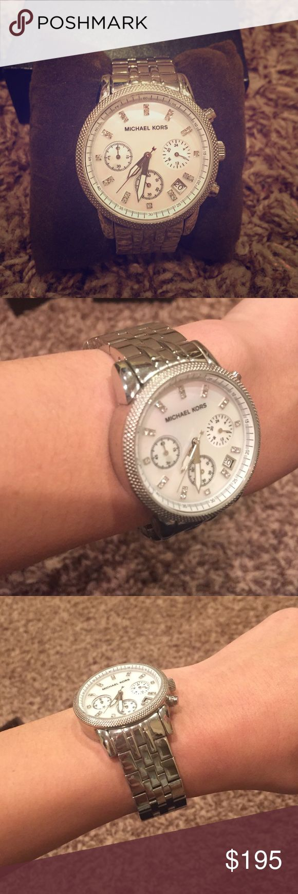 Brand new Michael Kors silver watch Brand new authentic micheal Kors watch! Still have the original packaging, probably wore this once! No damage :) MICHAEL Michael Kors Accessories Watches