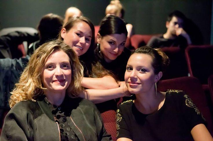 With Evelyne Brochu and Magalie Lépine-Blondeau at Festival du nouveau cinéma.