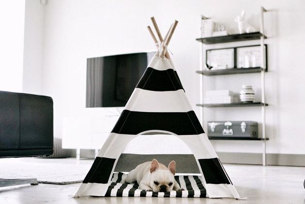 Cat Beds – Pet, dog, cat teepee, tent, wigwam – a unique product by DearPluto on DaWanda