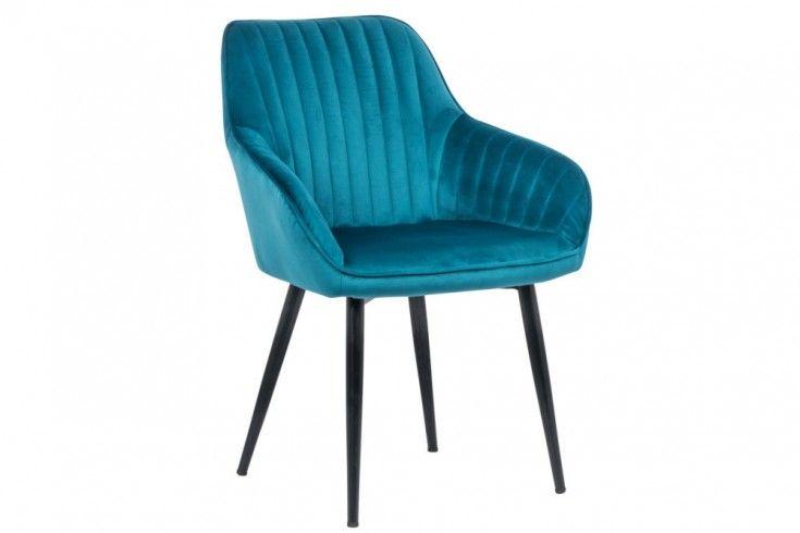 Edler Armlehnen Stuhl Turin Turkis Samt Mit Ziersteppung Riess Ambiente De Stuhle Armlehnen Turkiser Stuhl