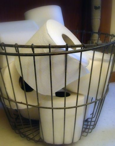 7 DIY Bathroom Storage Solutions: Perfect use for my new basket!
