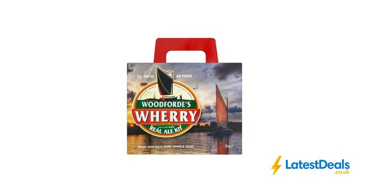 Woodfordes Wherry Real Ale Kit 3kg Makes 40 Pints Save £4 Free C&C, £18 at Wilko