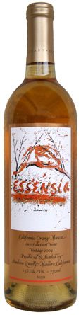 Orange Muscat - Quady makes some of California's very best dessert wines; the Essensia is a pretty wine, ripe oranges and flowers; medium to full bodied, sweet; fine with a orange creme brulee.