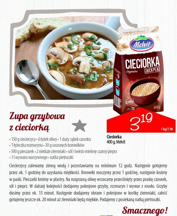 Zupa grzybowa z cieciorką