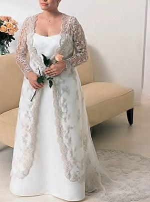 Alfred Angelo 1755 Ivory Satin Bridal Gown With Re Embroidered Lace Jacket And Cathedral Length Train This Is So Beautiful Wedding Ideas In 2018