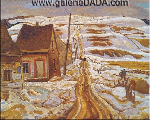 Alexander Y. Jackson,  Early Spring Quebec Fine Art Reproduction Oil Painting