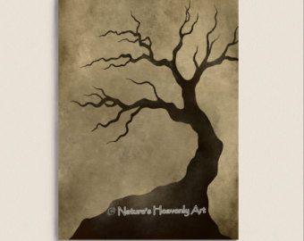Decoración púrpura oscuro árbol abstracto por NaturesHeavenlyArt