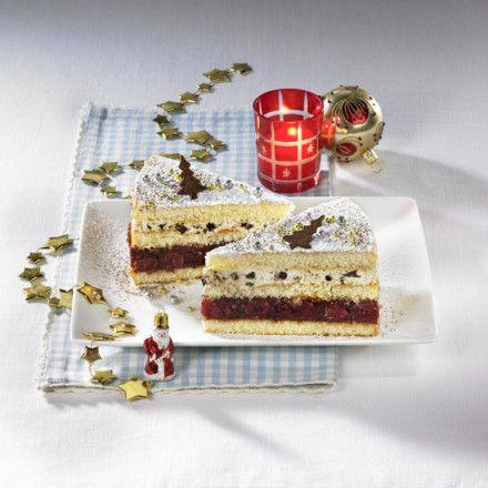Rumtopf-Torte Rezept | LECKER