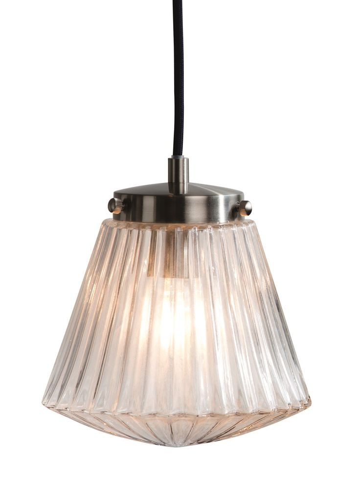 Edie Pendant Ceiling Lamp, in Brushed Steel and Glass. A modern twist on a traditional lighting classic. £59. MADE.COM