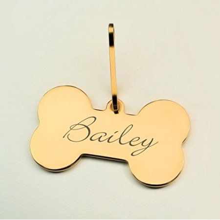 Personalized Pet ID Yellow and Purple Small Dog Tag