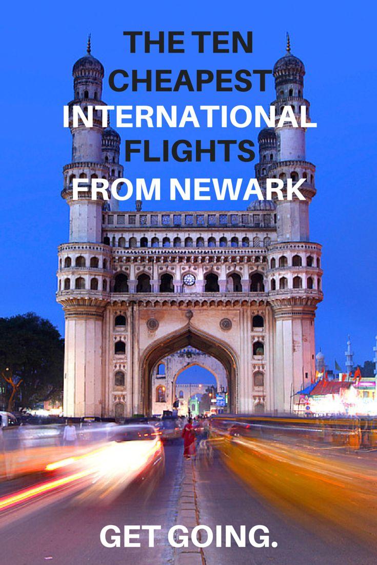 The ten cheapest international flights from Newark. #travel
