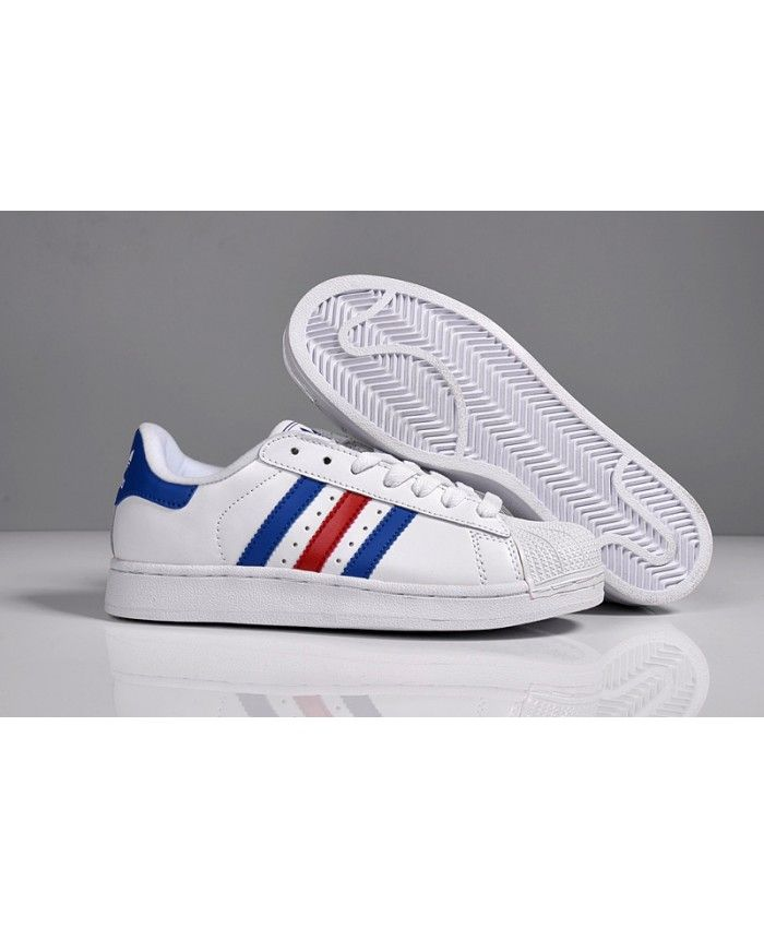 Adidas Superstar Mens Blue Discount Shoes T-1057