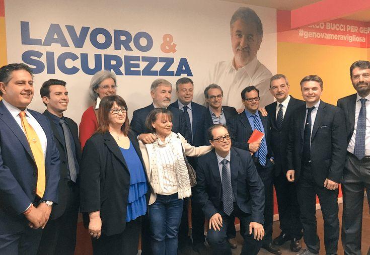 Genova, Municipi: Bucci presenta i candidati presidente per il centrodestra