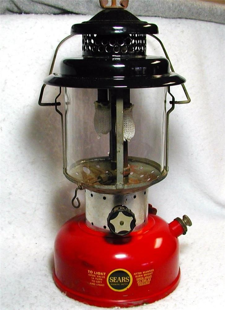 Vintage Sears Coleman Lantern 2-1964 Model 476 Gas NICE